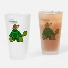 Snail on Turtle Drinking Glass