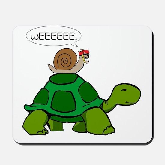 Snail on Turtle Mousepad
