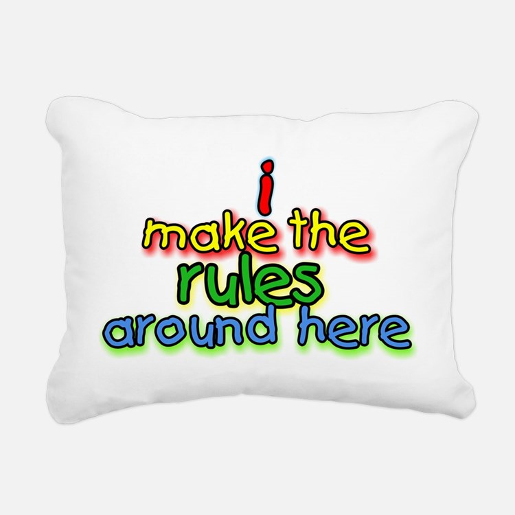 I Make The Rules Rectangular Canvas Pillow