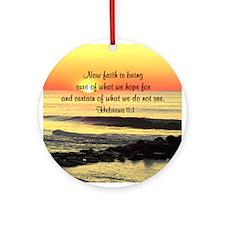 HEBREWS 11:1 Ornament (Round)