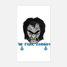 Zombie Beaters Sticker (Rectangle)