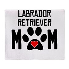 Labrador Retriever Mom Throw Blanket
