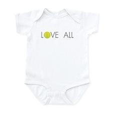 Tennis LOVE ALL Infant Bodysuit