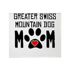 Greater Swiss Mountain Dog Mom Throw Blanket