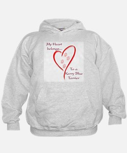Kerry Blue Heart Belongs Hoodie