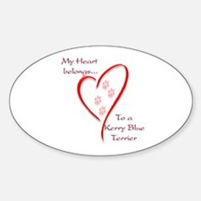 Kerry Blue Heart Belongs Oval Decal