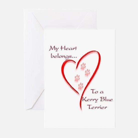 Kerry Blue Heart Belongs Greeting Cards (Package o