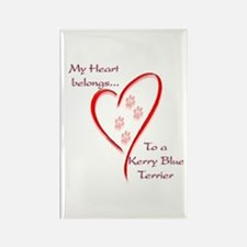 Kerry Blue Heart Belongs Rectangle Magnet