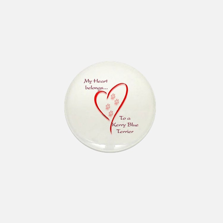 Kerry Blue Heart Belongs Mini Button