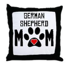 German Shepherd Mom Throw Pillow