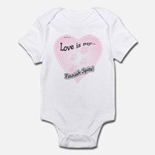 Love is my Finnish Spitz Infant Bodysuit