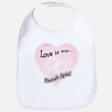Love is my Finnish Spitz Bib