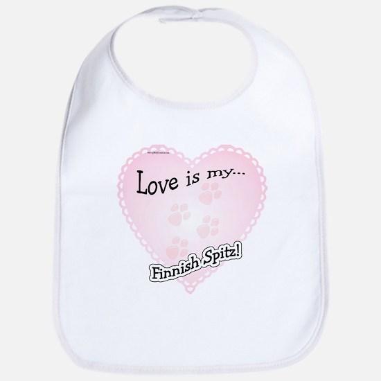 Love is my Finnish Spitz Bib