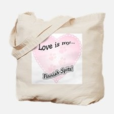 Love is my Finnish Spitz Tote Bag