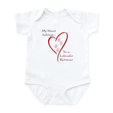 Lab Heart Belongs Infant Bodysuit