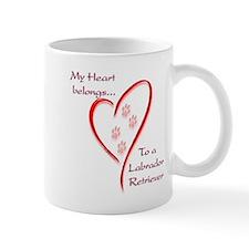 Lab Heart Belongs Small Mug