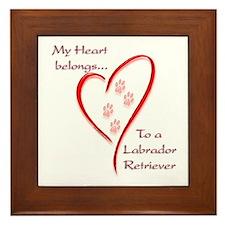 Lab Heart Belongs Framed Tile