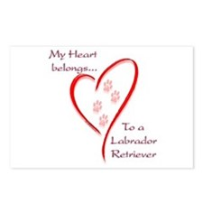 Lab Heart Belongs Postcards (Package of 8)