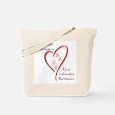 Lab Heart Belongs Tote Bag