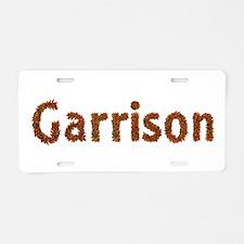 Garrison Fall Leaves Aluminum License Plate