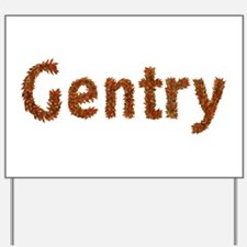 Gentry Fall Leaves Yard Sign