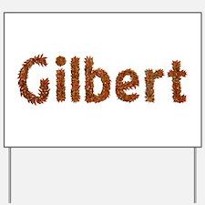 Gilbert Fall Leaves Yard Sign