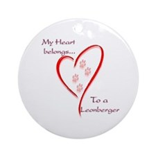 Leonberger Heart Belongs Ornament (Round)