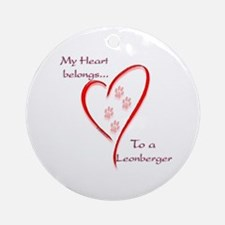 Leonberger Heart Belongs Ornament (Round)