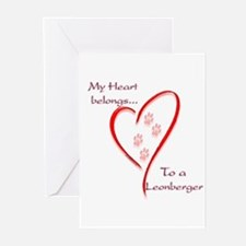 Leonberger Heart Belongs Greeting Cards (Package o