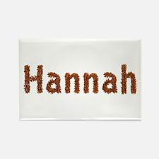 Hannah Fall Leaves Rectangle Magnet