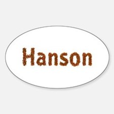 Hanson Fall Leaves Oval Decal