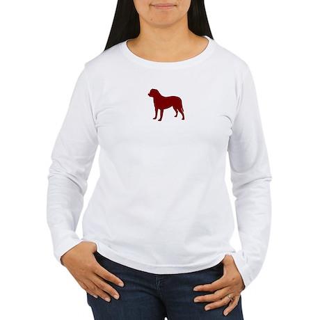 Just Bullmastiff (Red) Women's Long Sleeve T-Shirt