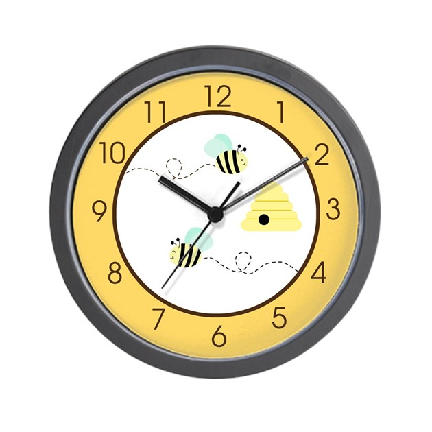 bumble bee yellow wall clock by artbyjessie