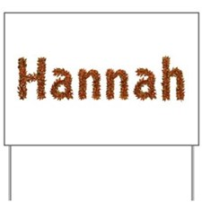 Hannah Fall Leaves Yard Sign