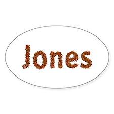 Jones Fall Leaves Oval Decal