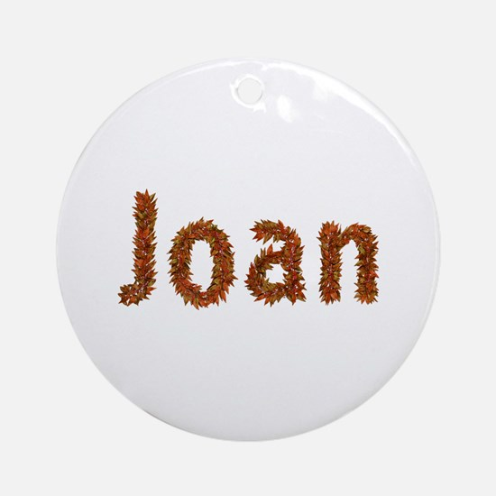 Joan Fall Leaves Round Ornament