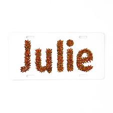 Julie Fall Leaves Aluminum License Plate