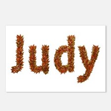 Judy Fall Leaves Postcards 8 Pack