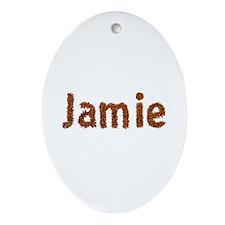 Jamie Fall Leaves Oval Ornament