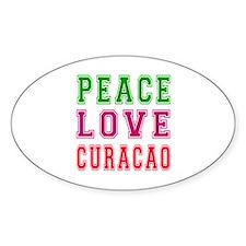 Peace Love Curacao Decal