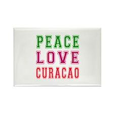 Peace Love Curacao Rectangle Magnet