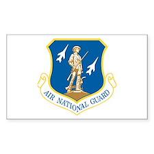 Air National Guard Rectangle Decal