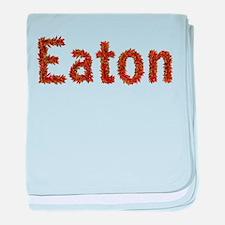 Eaton Fall Leaves baby blanket