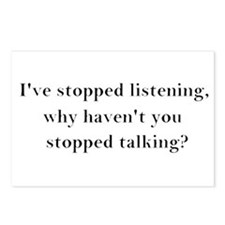 Stop Talking! Postcards (Package of 8)