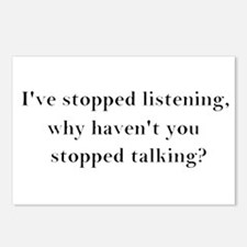 Stop Talking! Postcards (Package of 8)
