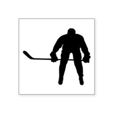 "HOCKEY PLAYER Square Sticker 3"" x 3"""