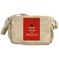 Keep Calm and Reload Zombies Messenger Bag