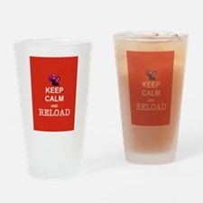 Keep Calm and Reload Zombies Drinking Glass