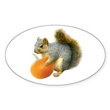 Squirrel with Pumpkin Decal