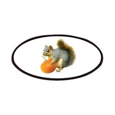 Squirrel with Pumpkin Patches